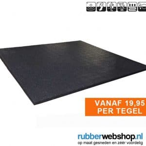 Sportvloer rubber tegel 100x100cm 1.5cm dik