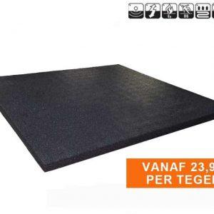 Sportvloer rubber tegel 100x100cm 2cm dk