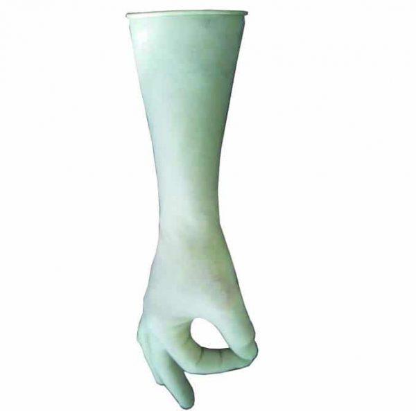 Natuur latex handschoenen voor het aanleggen van rubber sportvloeren