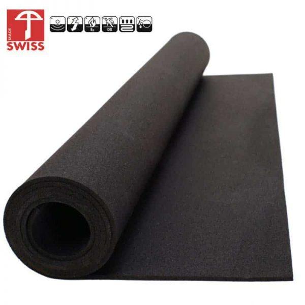 Budget Rubber Sportvloer Zwart Granulaat voor Sportschool, Fitness, Home Gym