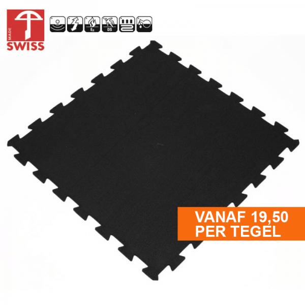 Rubber Sportvloer Puzzel Tegel 100x100cm