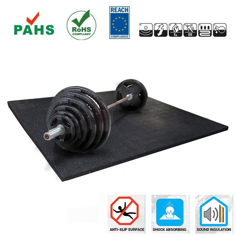 Sportvloer Rubber Tegel voor sportschool fitnessvloer of cardiovloer