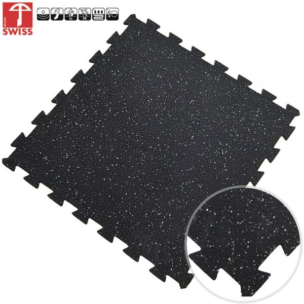 puzzel tegel zwart grijs 60x60