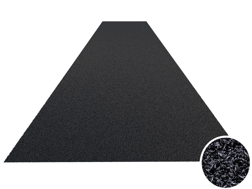 heavy duty sprinttrack kunstgrasmat antraciet donker grijs